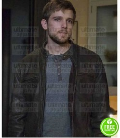 BATES MOTEL MAX THIERIOT (DYLAN MASSETT) BROWN LEATHER JACKET