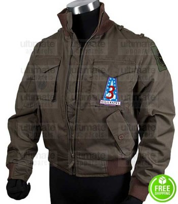 BATTLESTAR GALACTICA LEE ADAMA (JAMIE BAMBER) BROWN JACKET