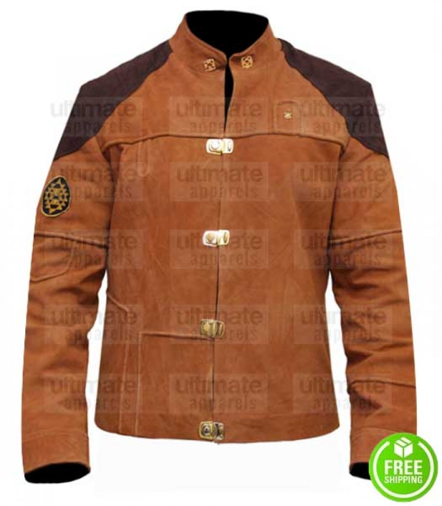 BATTLESTAR COLONIAL WARRIOR (VIPER PILOT) BROWN SUEDE LEATHER JACKET