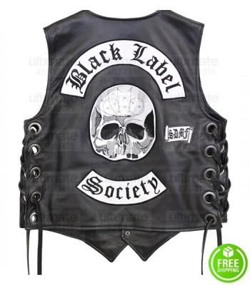BLACK LABEL SOCIETY BAND BLACK LEATHER VEST
