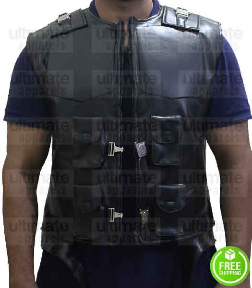 Blade Movie Wesley Snipes Leather Tactical Vest