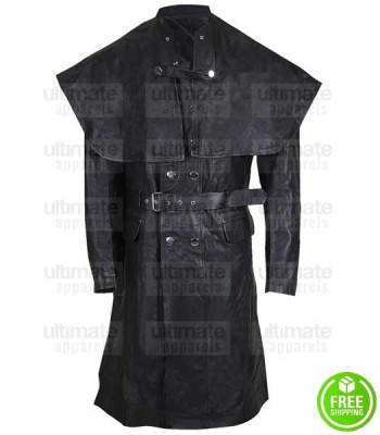 BLOODBORNE JOE SIMS (YHARNAMITE) LEATHER COSTUME COAT