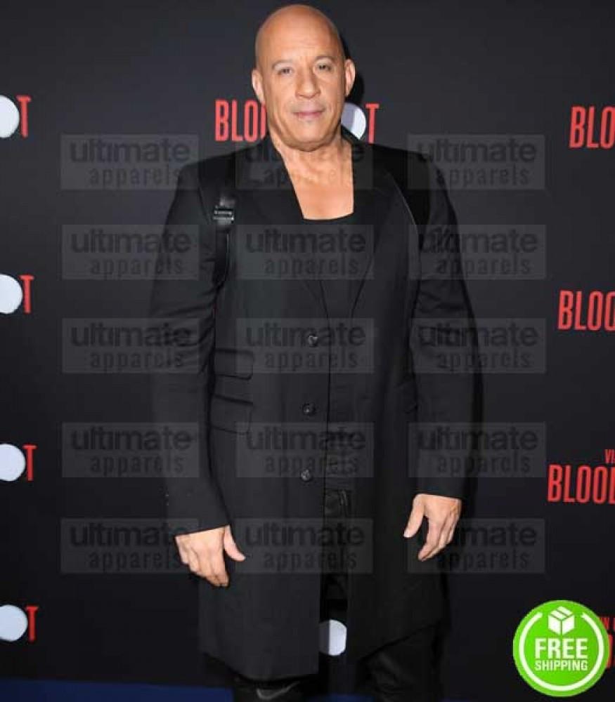 BLOODSHOT PREMIERE VIN DIESEL (RAY GARRISON) BLACK COAT