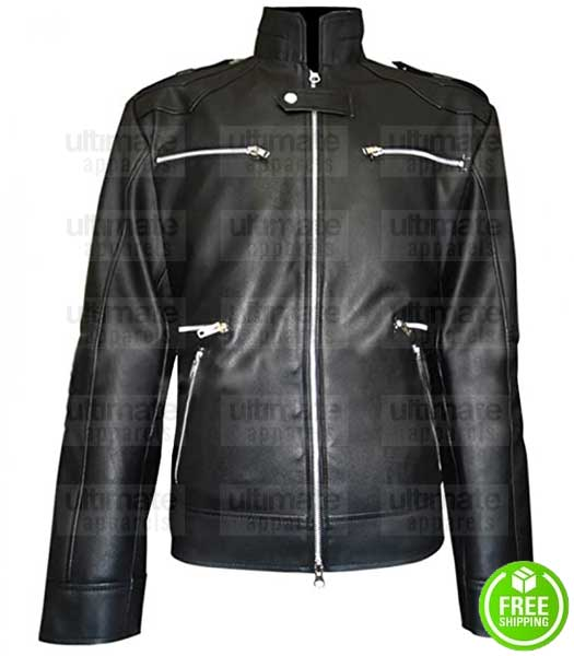BREAKING BAD SEASON 5 AARON PAUL (JESSE PINKMAN) LEATHER JACKET