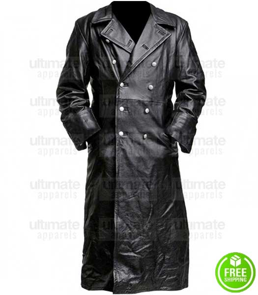 CAPTAIN AMERICA THE FIRST AVENGER HUGO WEAVING (RED SKULL) TRENCH LEATHER COAT