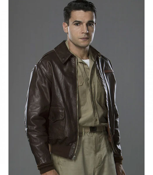 Buy Yossarian Leather Jacket | Catch 22 Christopher Abbott ...