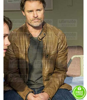 CEDAR COVE DYLAN NEAL (JACK GRIFFITH) BROWN LEATHER JACKET