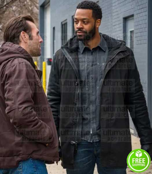 CHICAGO P.D LAROYCE HAWKINS (KEVIN ATWATER) BLACK COTTON COAT