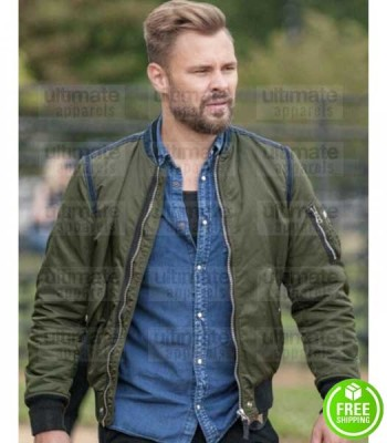 CHICAGO P.D PATRICK JOHN FLUGER (ADAM RUZEK) GREEN COTTON JACKET