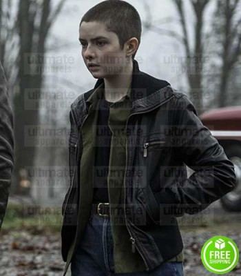 CHILLING ADVENTURES OF SABRINA LACHLAN WATSON (THEO PUTNAM) BLACK LEATHER JACKET