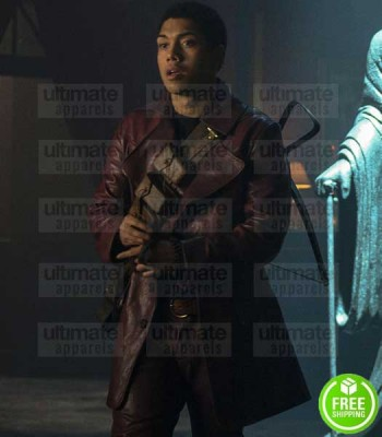 CHILLING ADVENTURES OF SABRINA CHANCE PERDOMO (AMBROSE SPELLMAN ) LEATHER COAT