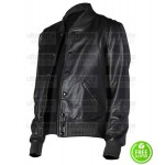 CLASSIC MEN'S BLACK LEATHER VARSITY JACKET