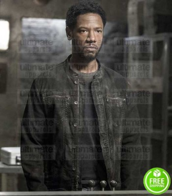 COLONY TORY KITTLES (ERIC BROUSSARD) LEATHER DISTRESSED JACKET