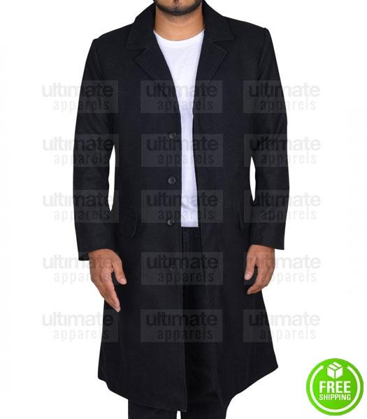 CONSTANTINE KEANU REEVES (JOHN CONSTANTINE) BLACK TRENCH COAT