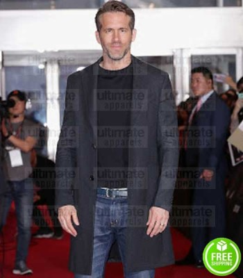 DEADPOOL 2 EVENT RYAN REYNOLDS (WADE WILSON) BLACK COTTON COAT