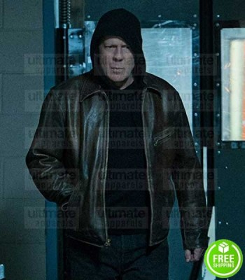 DEATH WISH BRUCE WILLIS (PAUL KERSEY) BROWN LEATHER JACKET