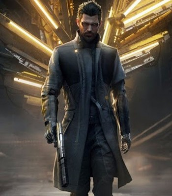 DEUS EX MANKIND DIVIDED GAME ADAM JENSEN BLACK COAT
