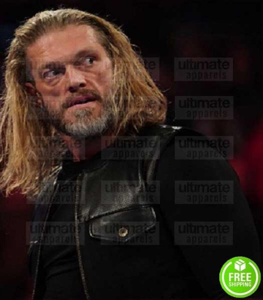 WWE RAW EDGE RETURN 2K20 BLACK LEATHER VEST