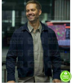 FAST AND FURIOUS 7 PAUL WALKER (BRIAN O'CONNER) BLUE COTTON JACKET