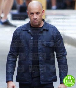 FAST AND FURIOUS 8 VIN DIESEL (DOMINIC TORETTO) BLACK COTTON JACKET