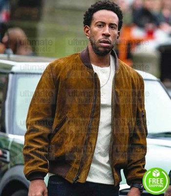 FAST AND FURIOUS 9 LUDACRIS (TEJ PARKER) BROWN SUEDE LEATHER JACKET