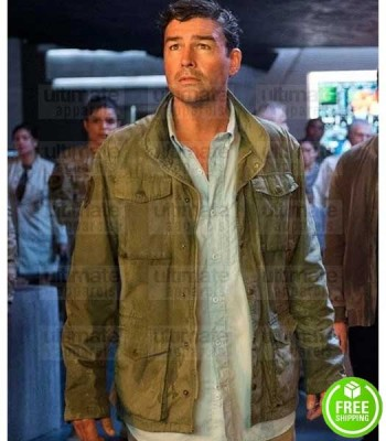 GODZILLA KING OF THE MONSTER KYLE CHANDLER (MARK RUSSELL) GREEN COTTON JACKET