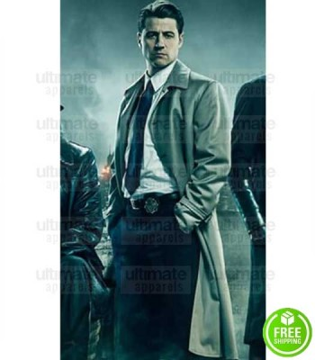 GOTHAM BEN MCKENZIE (JAMES GORDON) TRENCH COTTON COAT