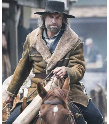 HELL ON WHEEL ANSON MOUNT (CULLEN BOHANNON) BROWN COTTON COAT