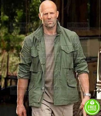 HOBBS AND SHAW JASON STATHAM (DECKARD SHAW) GREEN COTTON JACKET