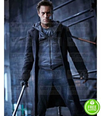 I, FRANKENSTEIN AARON ECKHART (ADAM) BLACK WOOL COAT