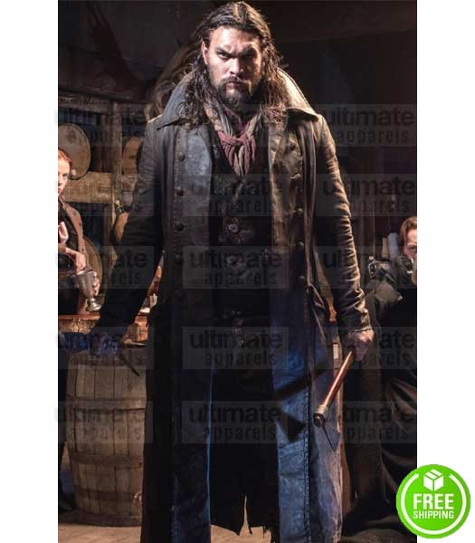 FRONTIER DECLAN HARP (JASON MOMOA) LEATHER COAT