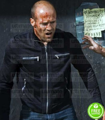 CRANK HIGHT VOLTAGE JASON STATHAM (CHEV CHELIOS) BLACK COTTON JACKET