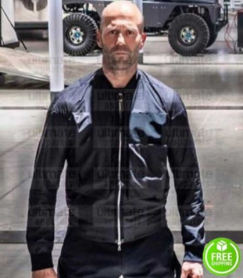 HOBBS & SHAW JASON STATHAM (DECKARD SHAW) BLACK COTTON JACKET