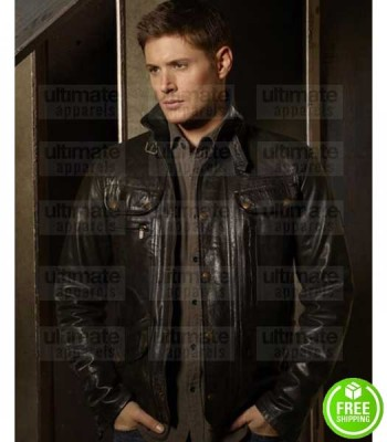 SUPERNATURAL DEAN WINCHESTER (JENSEN ACKLES) BROWN LEATHER JACKET