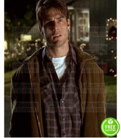 JERRY MAGUIRE TOM CRUISE BROWN SUEDE JACKET