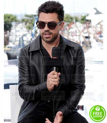 PREACHER DOMINIC COOPER (JESSE CUSTER) BLACK LEATHER JACKET