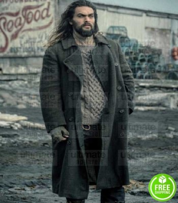 JUSTICE LEAGUE JASON MOMOA (AQUAMAN) WOOL TRENCH COAT