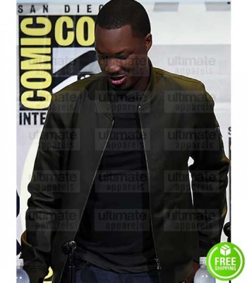 KONG SKULL ISLAND COREY HAWKINS (HOUSTON BROOKS) GREEN LEATHER JACKET