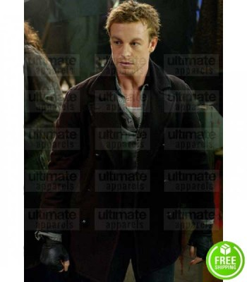 LAND OF THE DEAD SIMON BAKER (RILEY DENBO) BLACK WOOL JACKET