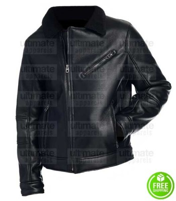 MEN'S BLACK NEW YORK LEATHER JACKET