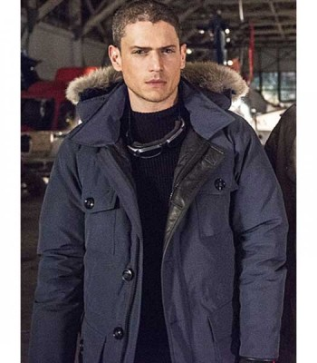 LEGENDS OF TOMORROW WENTWORTH MILLER FUR HOODIE COAT