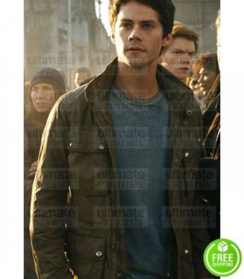 MAZE RUNNER THE DEATH CURE DYLAN O'BRIEN (THOMAS) GREEN COTTON JACKET