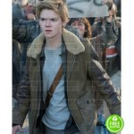MAZE RUNNER THE DEATH CURE THOMAS BRODIE-SANGSTER (NEWT) BROWN JACKET