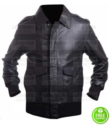 MEN'S HOUSTON BLACK LEATHER JACKET