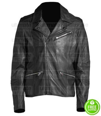 MEN'S PARIS BLACK LEATHER JACKET