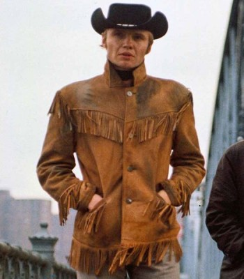MIDNIGHT COWBOY JOE VOIGHT (JOE BUCK) BROWN JACKET