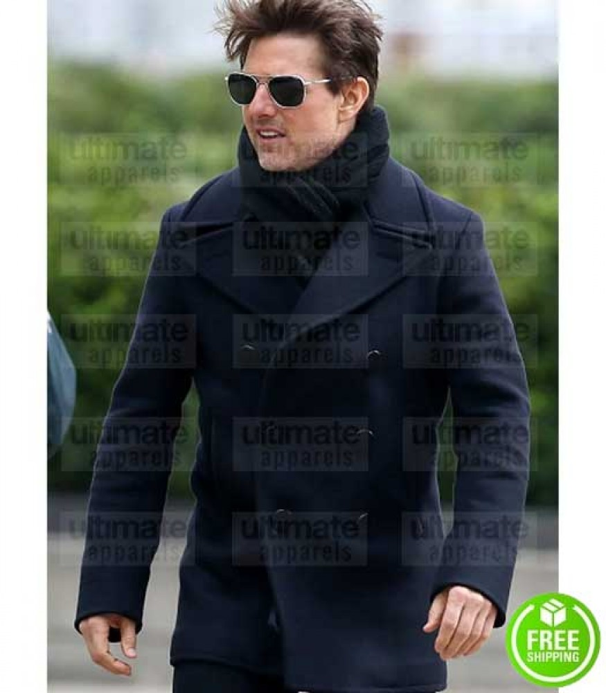MISSION IMPOSSIBLE FALLOUT TOM CRUISE (ETHAN HUNT) BLACK WOOL COAT