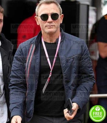NO TIME TO DIE DANIEL CRAIG (JAMES BOND) BLUE COTTON JACKET