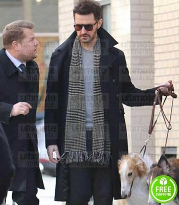 OCEAN'S 8 RICHARD ARMITAGE (CLAUDE BECKER) BLACK COTTON COAT