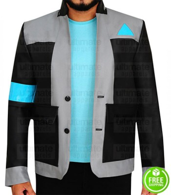 Detroit Become Human Android RK800 Connor Leather Costume Jacket